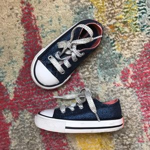 Converse Toddler Girl Glittery Sneakers